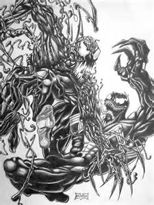 Venom vs Carnage Drawings