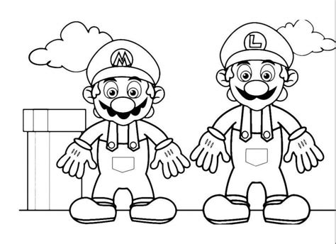 disegni da colorare mario e luigi i due idraulici mario e luigi disegno da colorare