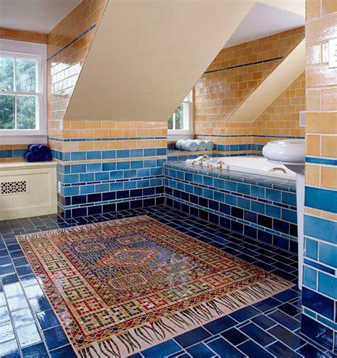 cobalt blue bathroom floor tiles ideas  pictures