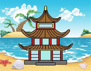 Maison Japonaise Dessin : dessin de maison traditionnelle japonaise colorie par membre non inscrit le 18 de octobre de ~ Melissatoandfro.com Idées de Décoration