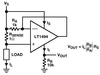 Simple Current Sensing Circuit Gives Linear Voltage Output