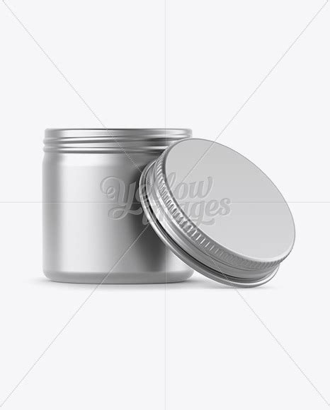 Thanks to free mockup zone for this awesome mockup! 50ml Open Matte Metal Round Tin Box Mockup - Front View in ...