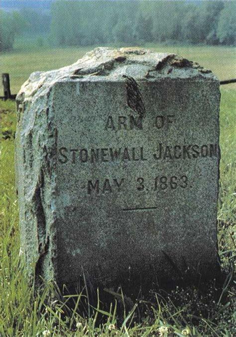 tombstone  stonewall jacksons left arm jackson