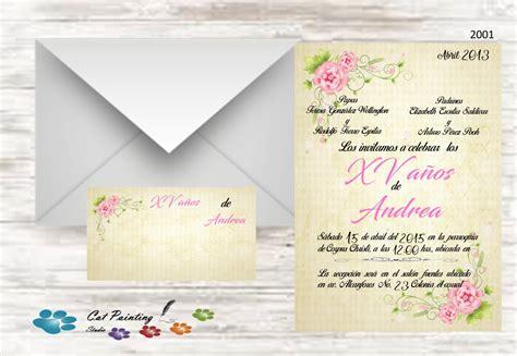 tarjetas e invitaciones quincea era tarjetas quincea eras invitaciones xv a 241 os