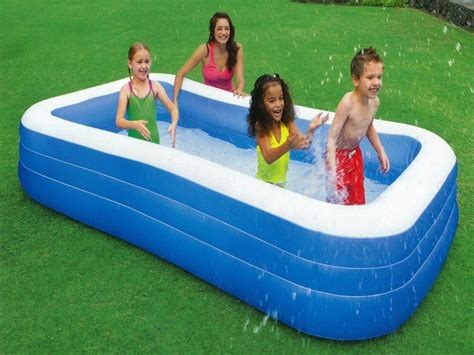 Blow Up Swimming Family Pool Inflatable Backyard Large