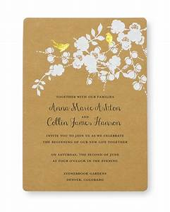 Print at home invitation kit gold foil birds gartner for Wedding invitations to print at home kits