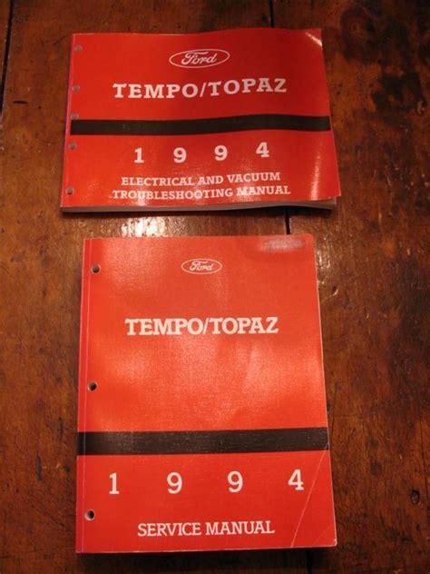 find  ford tempo mercury topaz service shop repair