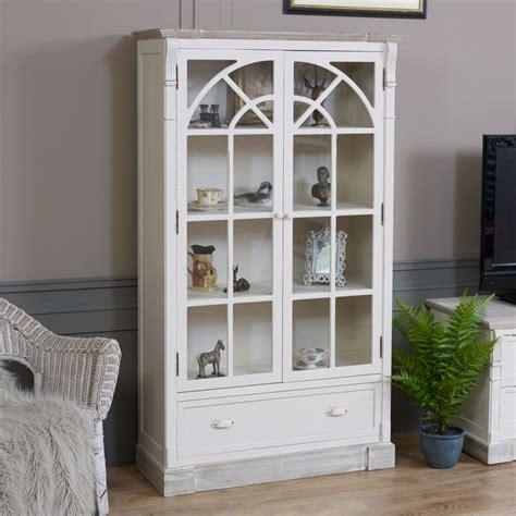 glazed display cabinet lyon range melody maison