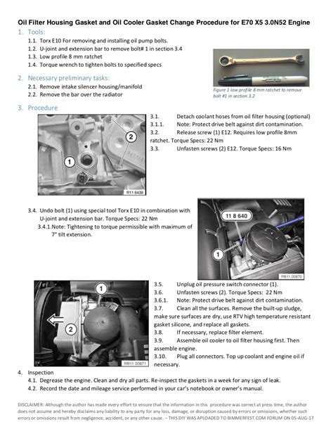 Oil Cooler Filter Housing Gaskets Replacement Questions