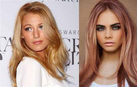 Rose Gold Hair Color Dye Formula, On Brunettes, Highlights