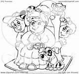 Pets Children Coloring Granny Clip Royalty Visekart Illustration Rf Clipart 2021 sketch template
