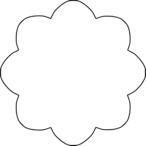 Clipart Flower 8 scallop circle background Penny rug