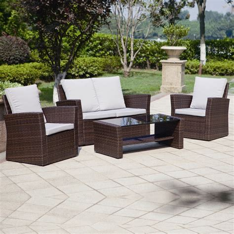 how to buy wicker garden furniture on a budget out out 4 algarve rattan sofa set for patios conservatories