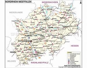 Buy Nordrhein-Westfalen, North Rhine - Westphalia map
