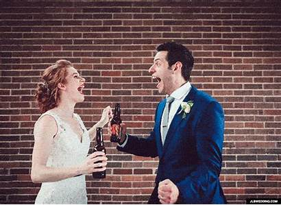 Marriage Married Gifs Animation Beer Last Fight
