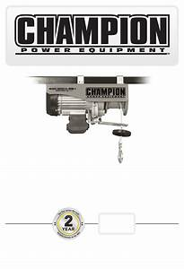 Champion Power Equipment Model 18890 Owner U0026 39 S Manual