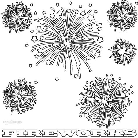 printable fireworks coloring pages  kids coolbkids