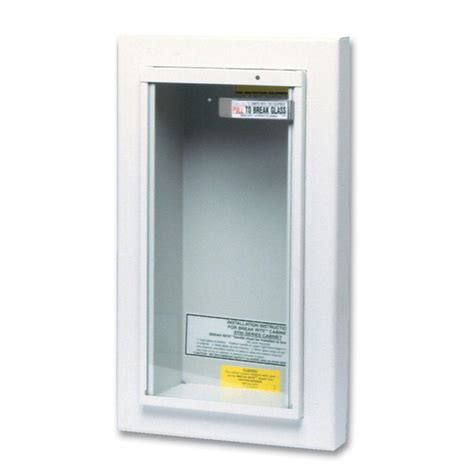 semi recessed extinguisher cabinet kidde semi recessed 5 lbs extinguisher cabinet