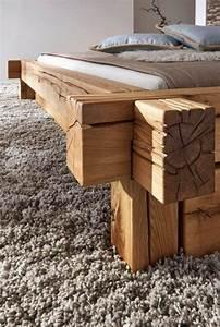 Bett Massivholz 180x200 : massivholz balkenbett 180x200 bett rustikal doppelbett wildeiche ge lt ~ Whattoseeinmadrid.com Haus und Dekorationen
