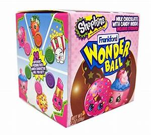 Shopkins Surprise Egg Chocolate Wonderball Candy and ...