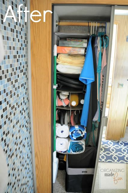 rv closet organizer organizing those awkward small spaces in an rv giveaway