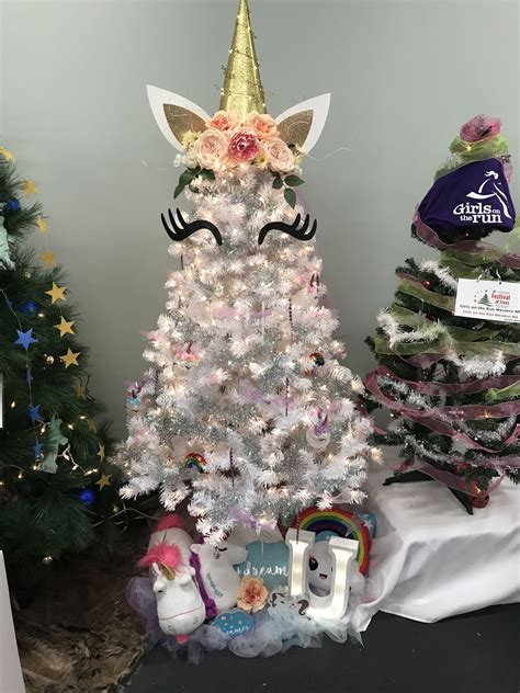 unicorn christmas tree topper tree unicorn tree ℭhris ⴕrees