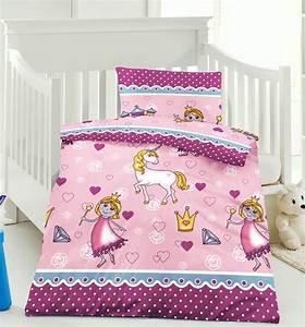 Baby Bettwäsche Günstig : kinderbettw sche baby bettw sche microfaser 100x135 lola pink ~ A.2002-acura-tl-radio.info Haus und Dekorationen