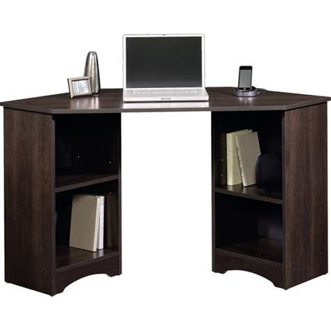 walmart corner computer desk sauder beginnings traditional corner desk