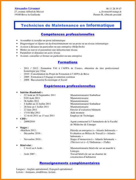 application cuisine 12 cv manutentionnaire modele lettre