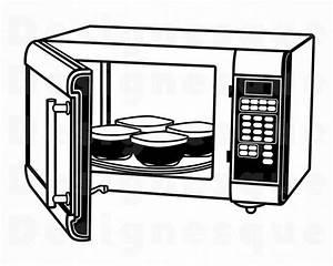 Microwave 5 SVG Microwave SVG Kitchen Oven Microwave   Etsy