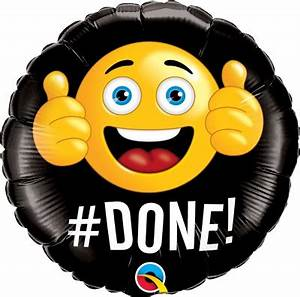 """#DONE Emoji Balloon 18"""" - Ronjo Magic, Costumes and Party Shop"""