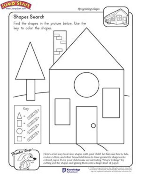 Shapes Search  Math Worksheet On Shapes For 1st Graders Jumpstart