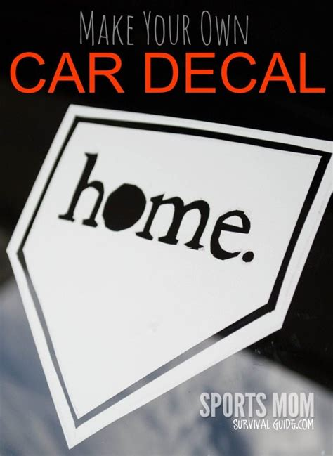 Make Your Own Car Decals Sportsmomsurvivalguidecom