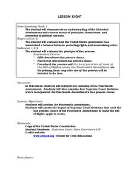 13th 14th 15th Amendments Lesson Plans & Worksheets