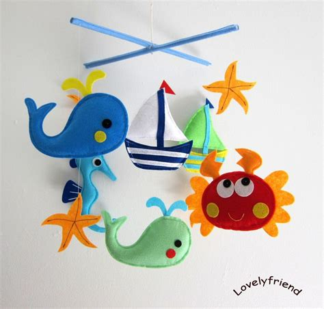 mobile für baby baby mobile crab crib mobile handmade nursery mobile quot on the quot match your