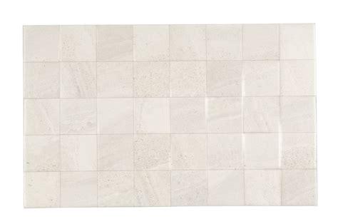Fiji White Stone Effect Ceramic Wall Tile, Pack Of 10, (l