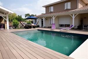 Piscine Avec Terrasse Bois : amenagement piscine terrasse bois ~ Nature-et-papiers.com Idées de Décoration