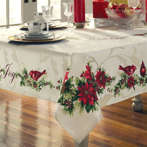 top 28 christmas table linen christmas tablecloths