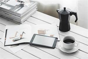 Digital, Tablet, With, Cup, Of, Coffee, On, A, White, Desk, U00b7, Free, Stock, Photo