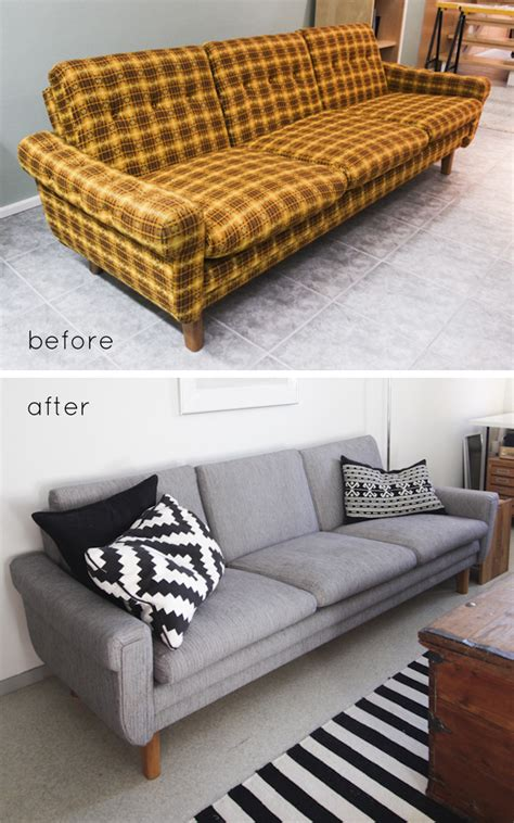Reupholster Sofa Chair by Remodelaholic 28 Ways To Bring New To An Sofa