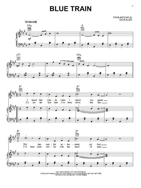 train piano sheet music blue train sheet music by nashville bluegrass band piano