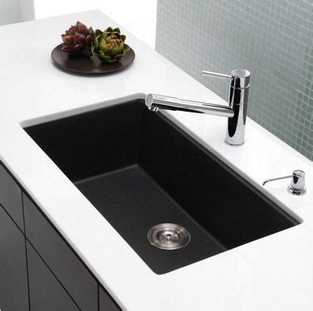 black single bowl kitchen sink kraus kgu 413b 31 inch undermount single bowl black onyx 7902