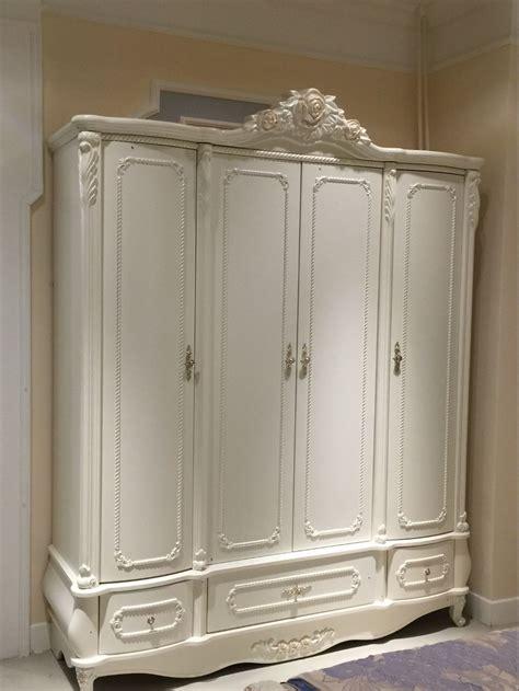 French Style 4 Door Bedroom Wardrobe Cabinet 0409 8859in