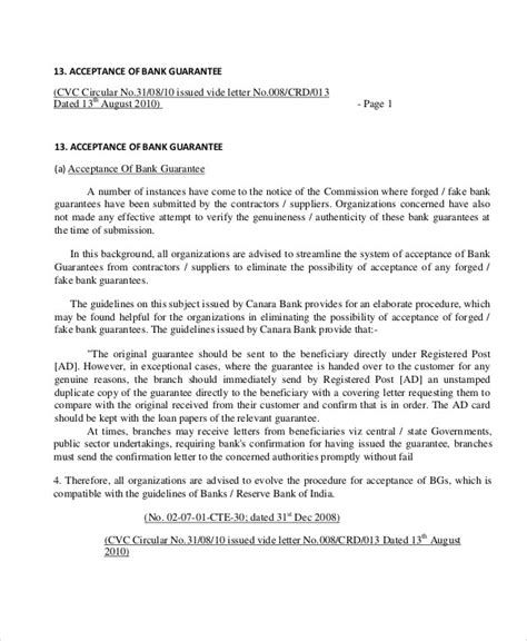 7 confirmation letter to bank 51 guarantee letter sles pdf sle templates 79740