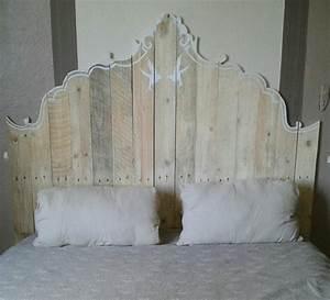 Tete De Lit Bois Clair : t te de lit en palette un projet peu co teux pour vos embellir votre chambre ~ Teatrodelosmanantiales.com Idées de Décoration