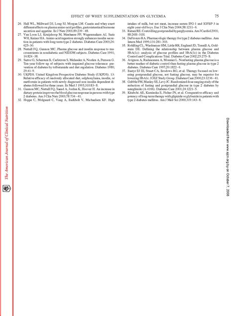 Effect Of Whey On Blood Glucose And Insulin Responses To