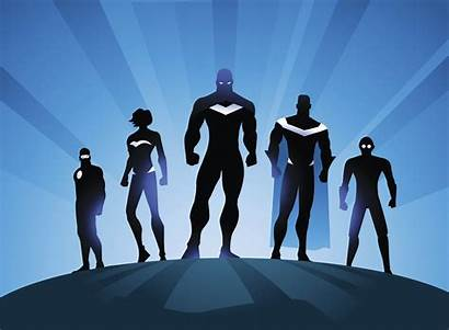 4k Superheroes Superhero Wallpapers Silhouette Team Minimalism