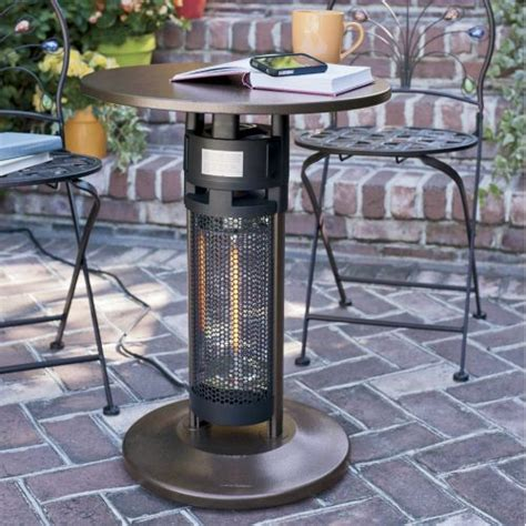 outdoor leisure bistro table patio heater patio heater table bistro table patio heater 173382 pits