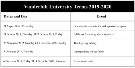 school calendar holidays