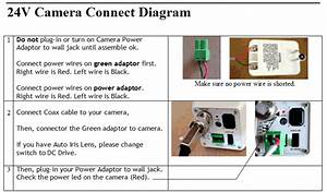 Camera Cable And Power Adapter Connection Diagram